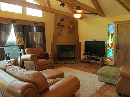 flooring interesting family room with brown leather sofa and