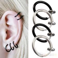 ear piercing hoop 2018 clip on hoop boby nose lip ear piercing earrings