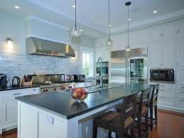Drop Lights For Kitchen Island Contemporary Kitchen With Kitchen Island U0026 Drop In Sink In
