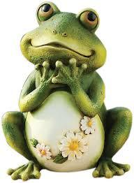 amazon com joseph studio 65904 tall frog sitting up garden
