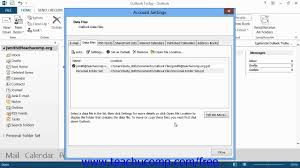outlook 2013 tutorial creating a personal folder microsoft