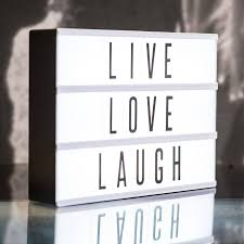house number light box a4 size battery operated led cinematic light box with letters