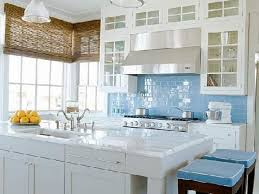 light blue kitchen backsplash light brown maple wood cabinet kitchen tile backsplash ideas with