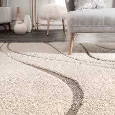 Modern Floor Rug Rugs Curtains Modern Ivory Shag Rug For Cozy Living Room Floor