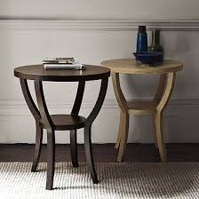 west elm round side table pushed to the side the lil house that could