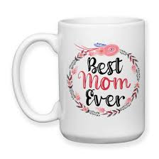 coffee mug best mom ever 002 floral wreath flowers mother u0027s day