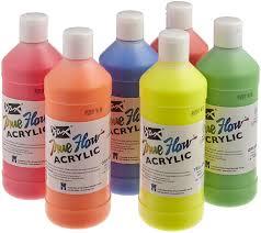 amazon com sax true flow acrylic paint 1 pint set of 6