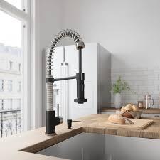 vigo stainless steel pull out kitchen faucet vigo edison stainless steel matte black pull spray kitchen