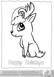 cartoon reindeer coloring echo u0027s christmas reindeer cartoon