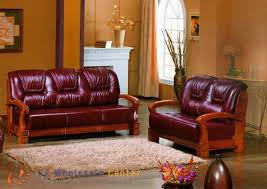Leather And Wood Sofa Leather And Wood Sofa Facil Furniture
