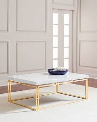 Marble Top Accent Table Marble U0026 Mirrored Coffee Tables At Neiman Marcus Horchow