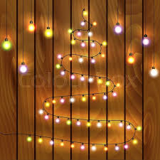 tree made of lights vector illustration