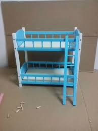 wamami 87 blue wood bed bunk bed frame double decker for 1 4 u00261 6