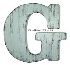 large rustic wooden letter g 18 inch letter wall decor wood