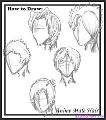 hhort haircut sketches for man how to draw male hair styles step by step anime hair anime draw