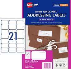 address labels with quick peel 936047 avery australia