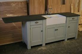 free standing kitchen sink cabinet freestanding large sink unit with overhang for appliance ebay