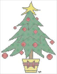 free tree and ornament cross stitch pattern clip art library
