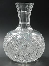 4x4 Glass Vase Elmira 100 American Brilliant Period Cut Glass Water Carafe Vase