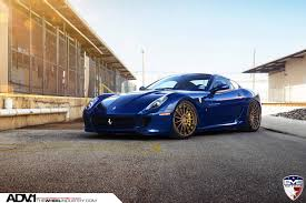 blue ferrari blue ferrari 599 gtb fiorano on adv1 wheels image 1 10