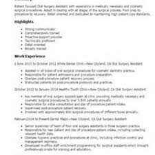 Medical Office Assistant Resume Examples Oral Surgeon Assistant Resume Samples