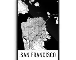 san francisco map framed framed map etsy