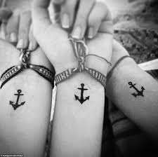 bffs show off their incredible matching tattoos daily mail online