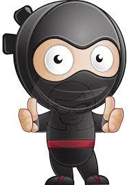 ninja cartoon characters vector graphicmama