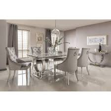 marble dining room set arianna marble dining table set in grey dining room from