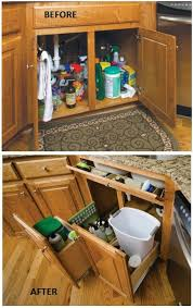 remodelaholic convenient and space saving cabinet organizing ideas