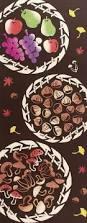 Mushroom Home Decor by Japanese Tenugui Towel Cotton Fabric Delicious Autumn Food