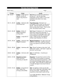 How To Make A Video Resume Script Tv Script Template 28 Images Tv Commercial Script