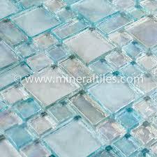iridescent glass mosaic tile clear random blend glass mosaic