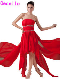 popular strapless red cocktail dress buy cheap strapless red