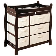Basket Changing Table Badger Basket Changing Table With Six Baskets Espresso
