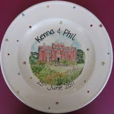 wedding signing plate painted signing signature plate to celebrate a wedding at