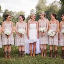 rustic cowboy boot wedding fashions