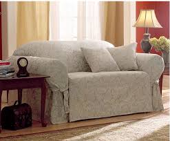 Surefit Sofa Slipcovers by Sure Fit Scroll Sofa Slipcover Champagne