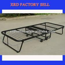 Single Folding Bed Japan Fond Metal Folding Bed Iron Single Folding Bed With Foam