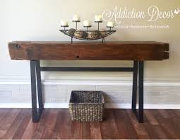 Diy Entry Table by Barn Beam Console Entry Table By Addiction Decor Furniture