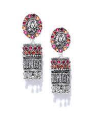 pachi work earrings jhumkas buy jhumka earrings online in india myntra
