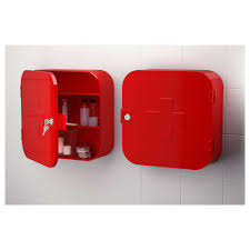 gunnern lockable cabinet red 32x32 cm ikea
