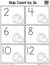 pumpkins counting by 2s a to z teacher stuff printable pages