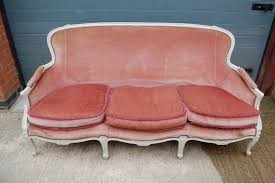 canap sofa louis xv style painted 3 seater canapé sofa c1920 331821
