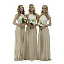 bridesmaid gowns aliexpress buy high neck chagne bridesmaid
