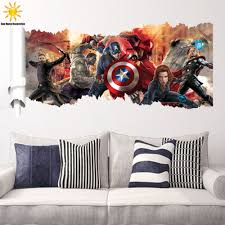 Decoration Kids Wall Decals Home by Compare Prices On Avengers Wall Stickers Home Decor Online