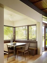 upholstered breakfast nook breakfast nook with large window design idea feat cool square