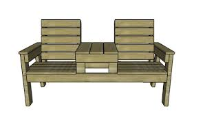 Wood Bench Plans Free by Double Chair Bench With Table Plans Myoutdoorplans Free