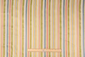 Stripe Drapery Fabric Filbert In Carnival Woven Textured Linen Stripe Drapery Fabric By