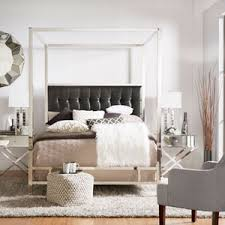 adora graphite glam champagne brass canopy bed homehills canopy
